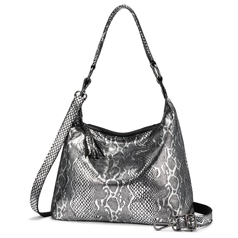 Женские сумки через плечо REALER, большие дизайнерские сумки из натуральной кожи с кисточками и принтами животных, 2020(Китай)