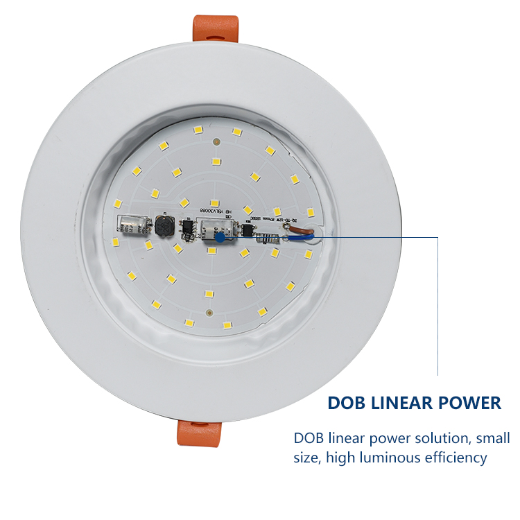 Anern 12 v dc 5 w 6 w 30 w ניתן לעמעום שקוע led downlight 3 w