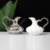 Hot sale wholesale custom logo elegance white home goods tea set ceramic milk jar with silver rim