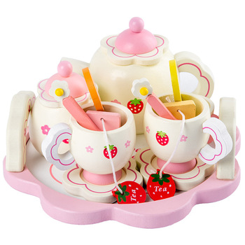Children Preschool Educational Pretend Kitchen Play Toy New Arrival Wooden Tea Set for Kids