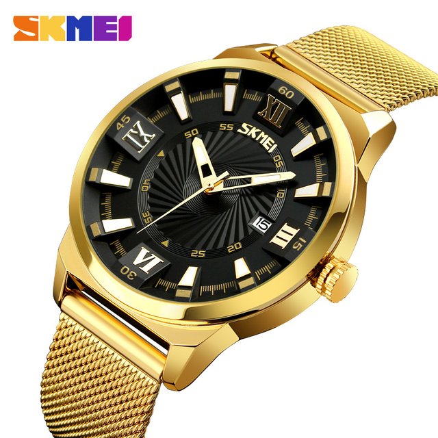 Skmei 9166 Men Gold Watch High Quality Japan Movt Stainless Steel Wrist Quartz Watch Buy Quartz Watch Stainless Steel Wrist Quartz Watch Gold Watch Product On Alibaba Com