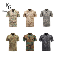 Men'S 100% Cotton Military Camouflage Army T Shirts With Short Sleeve