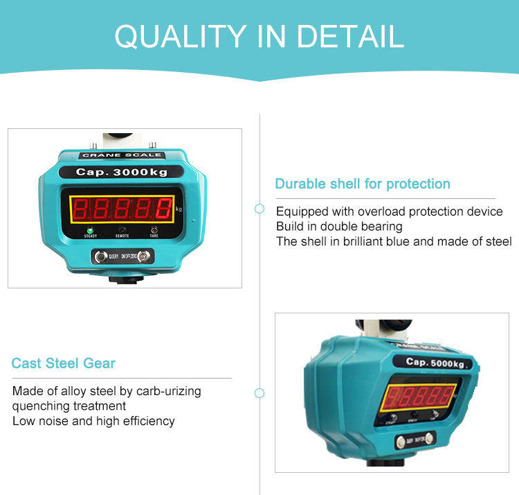 3T 저울 트럭 액슬로드 휴대용 전자 작은 ocs 무선 크레인 교수형 저울