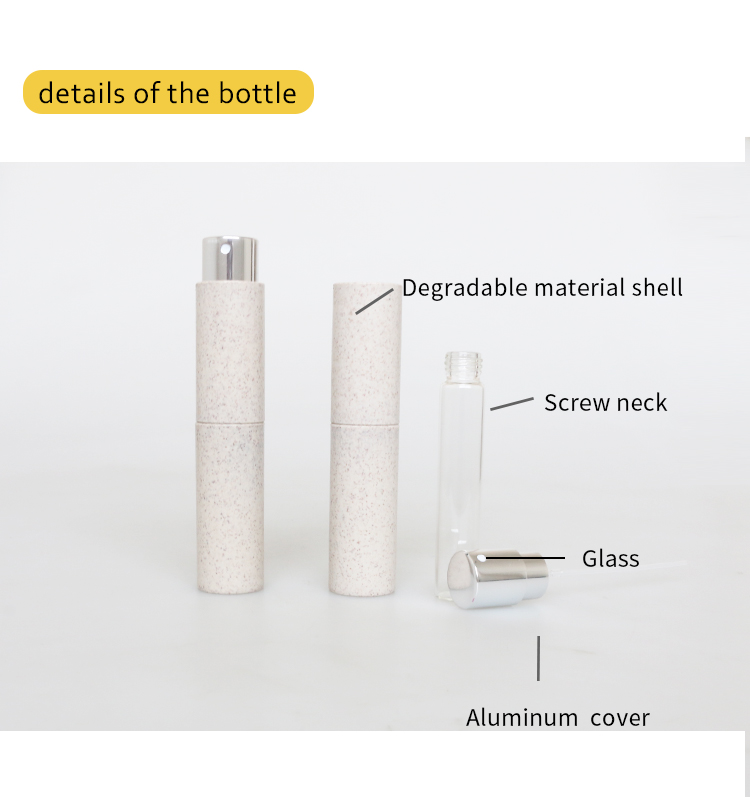 2020 New Raw Material 10ml 15ml bioplastic bottle packaging for perfume travelling