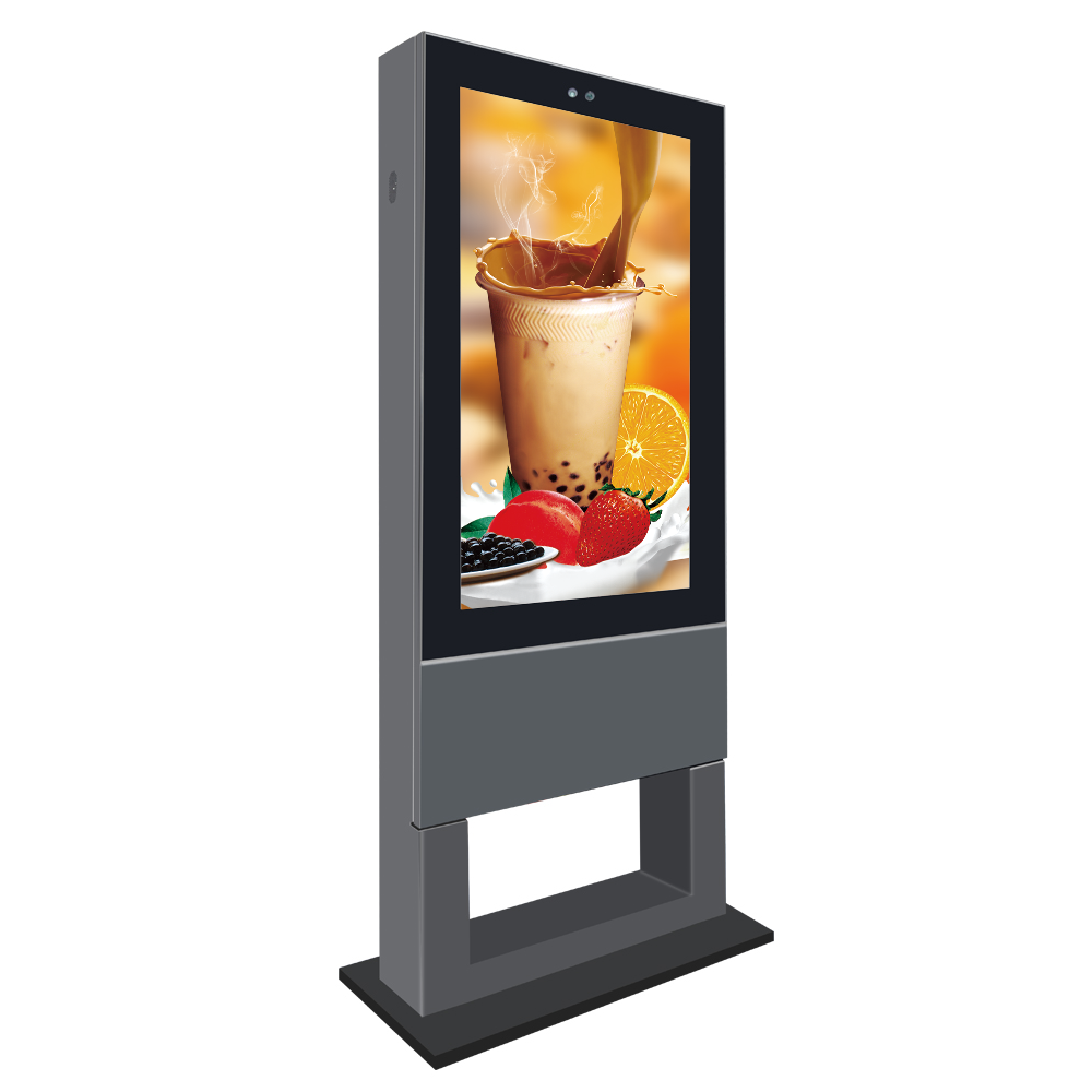 55 zoll wasserdichte outdoor touchscreen kiosk, lcd kiosk display im freien, outdoor digital signage kiosk