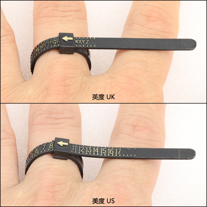 Plastic jewellery jewelry Ring Sizer Finger Gauge Belt Measure tools stick US size 1 - 17 for rings Multisizer Economical