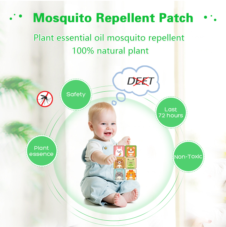 high quality natural baby anti mosquito repellent patch