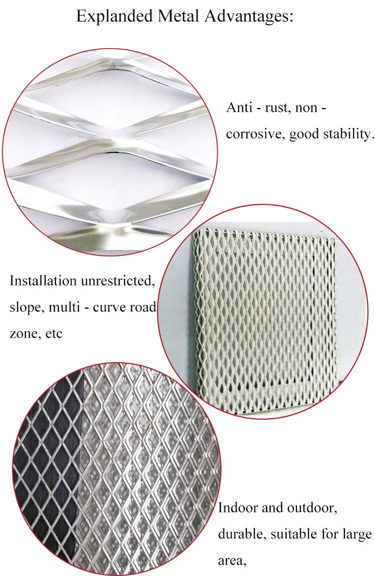 المعين شبكة معدنية قابلة للتمدد/الزخرفية المجلفن توسيع الصفائح المعدنية الماس شبكة السقف