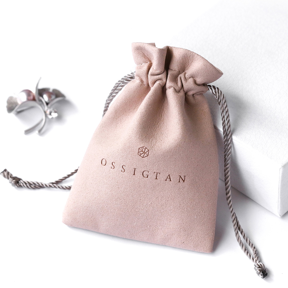 PandaSew 8*13cm Custom Microfiber Jewelry Packaging Bag drawstring Pouch with logo, Pink or customized color