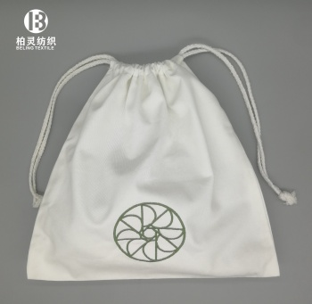 100% Cotton hotel Hair Dryer Bag Drawstring Closure Cover