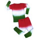 women kids 2pcs tie dye sleepwear adult children pullover pajama set christmas family green and red pajamas