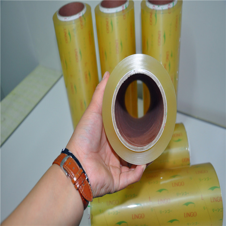 China fabriek zachte plastic wrap pvc cling transparante film voor food grade