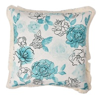 Rose pattern pillow trim foofaraw seat sofa cushion with wholesale price