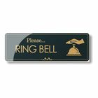 Please Ring Bell - Laser Engraved Sign Black Acrylic Sign Boards