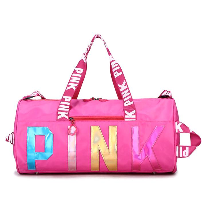 कस्टम weekender खेल बैग जिम नायलॉन खेल बैग के लिए महिला के लिए जिम यात्रा बैग लड़की