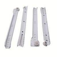Steel side mounted white color FGV type telescopic drawer slide for keyboard drawer hardware