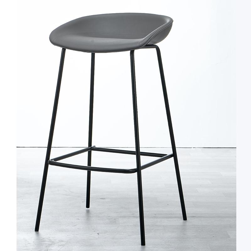 الشمال نمط التصميم الحديث سيقان معدنية مقعد مقعد مرتفع كرسي مقعد بحزام جلدي