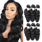 Natural Human Hair 16inch Natural Black Loose Wave Human Hair Extension Remy Hair Bundles Women Brazilian 10a Grade Raw Virgin Hair Bundles