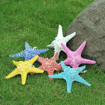 OurWarm wholesale Beach Event Style Wedding Gifts Hanging Resin Starfish For Wedding Birthday Decoration