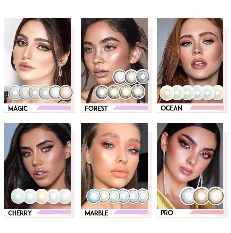 FreshLady Yeni Varış Kozmetik mavi kontakt lensler kozmetik kontakt lensler toptan