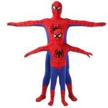 New style high quality Halloween cosplay red spiderman costume adult