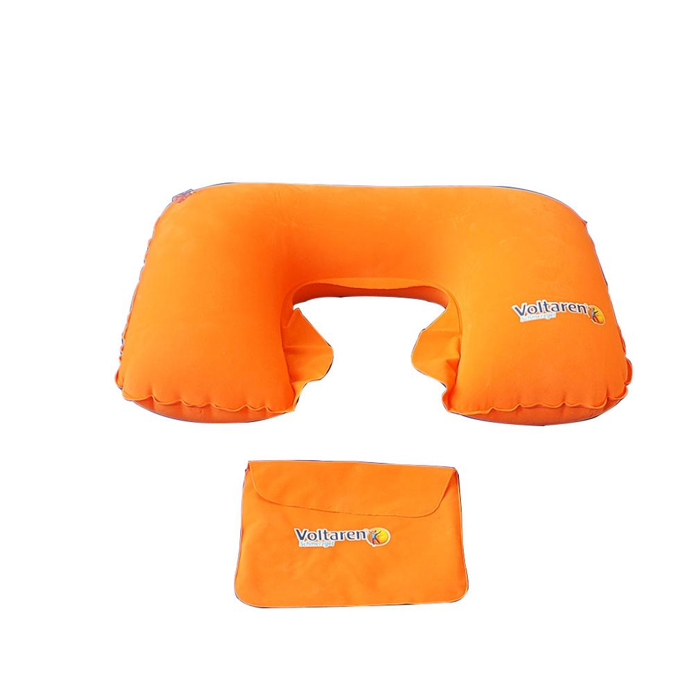 inflatable neck pillow with pvc flocked