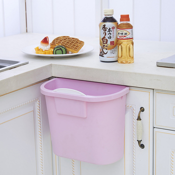Plastic Kitchen Desktop Hanging Food Waste Garbage Bin Rubbish Organizer Trash Junk Box Bedroom Storage Boxes Holder