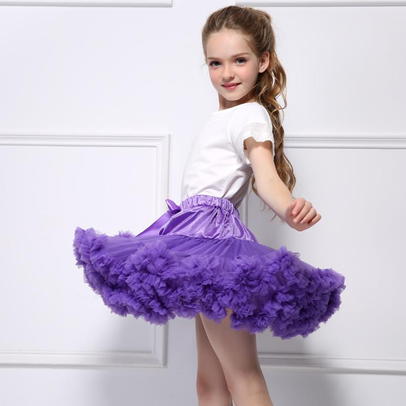 高品質の快適な女性の女の子ダンスウェアふわふわペチスカートバレエチュチュスカート弓