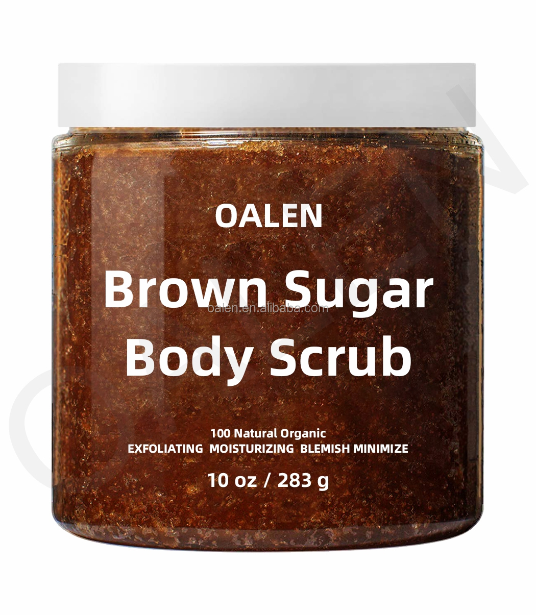 Brown Sugar Exfoliating Face Body Scrub Reduce Acne Scars Stretch Marks Deep Cleansing Scrub