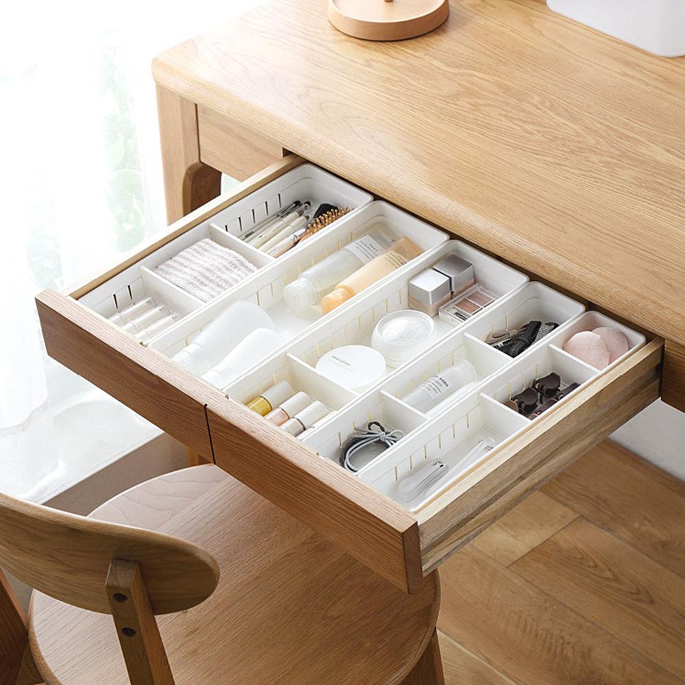 2191 Kitchen Accessory Storage Box ABS Adjustable Drawer Divider Expandable Kitchen Organizer