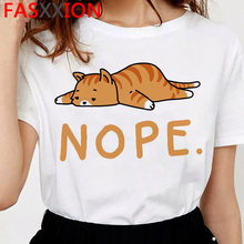 Женская футболка с принтом кошки, корейский стиль, готика и графика, повседневная и эстетичная, каваи, ulzzang(China)