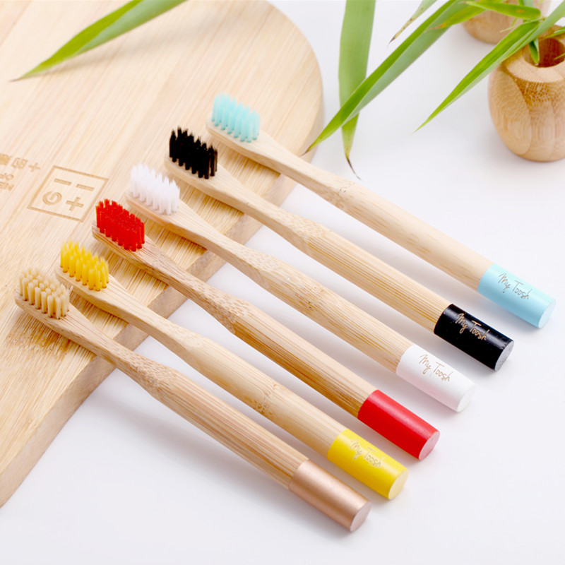 Colorful Environment-friendly <strong>Bamboo</strong> Toothbrush Oral Care <strong>Bamboo</strong> Handle Soft Bristles Tooth brush Whitening Toothbrush