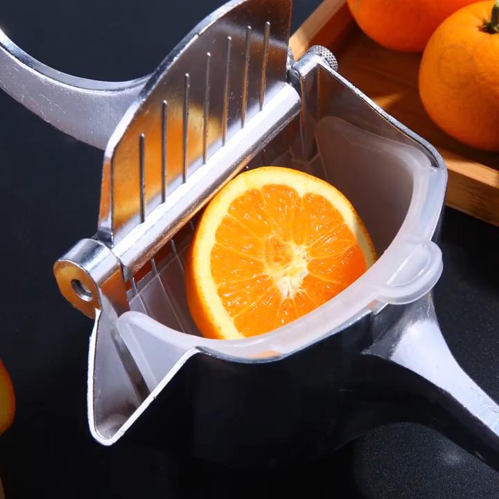 新ステンレス鋼手動フルーツジューサー合金柑橘類ジューサースクヘビープレスフルーツジューサーレモンのための