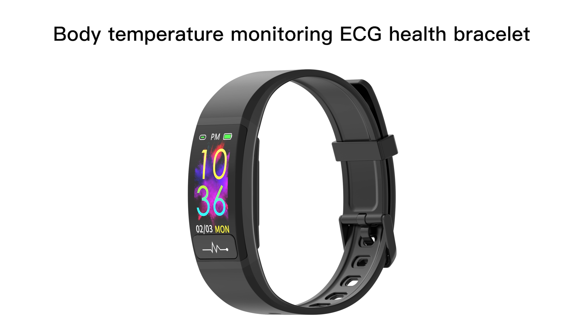 0.96 นิ้วTFTหน้าจอสร้อยข้อมือสมาร์ทECG Heart Rateความดันโลหิตสมาร์ทนาฬิกาอุณหภูมิวัดสร้อยข้อมือสมาร์ทM8