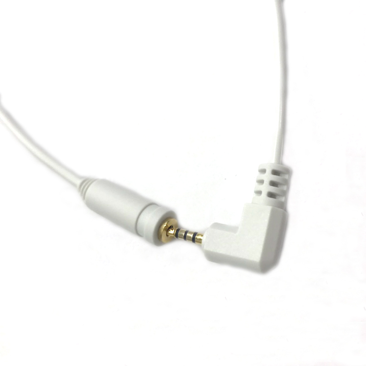 Short 2.5mm Audio Extension Cable Angled 2.5mm Male to 2.5mm Female TRRS Headset Aux Cord Gold Plated