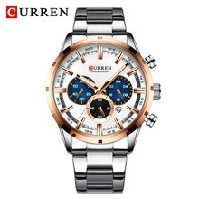 Новинка 2020, мужские часы CURREN от ведущего бренда, роскошные спортивные водонепроницаемые кварцевые часы с хронографом, мужские деловые часы ...(Китай)