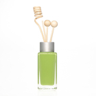 Coloured Green Colored Diffuser Bottle China Supplier Inside Spraying Coloured 40ml Green Square Empty Reed Diffuser Bottles 2oz Fragrance Bottle