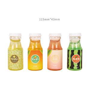 Creative bottled milk drink fruits slime decompression crystal mud