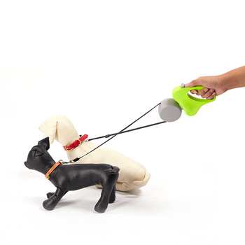 Pet products pet accessories retractable small dog double leash