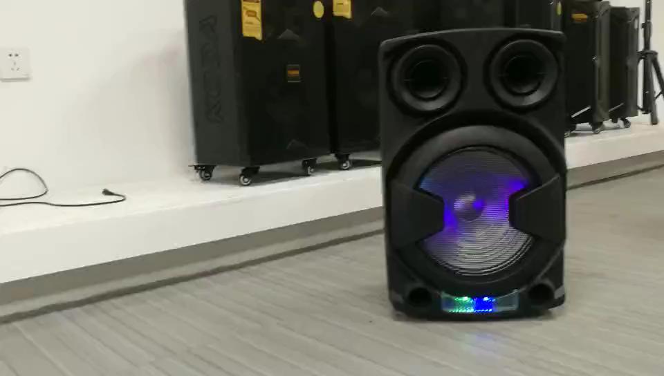 Bass Woofer 12 Active Plastik Karaoke Speaker dengan Mic Speaker