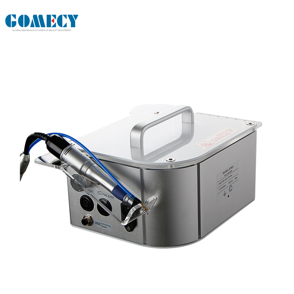 GOMECY Electric Acrylics Aluminum Manicure Pedicure Nail Drill nail polishing with water spray