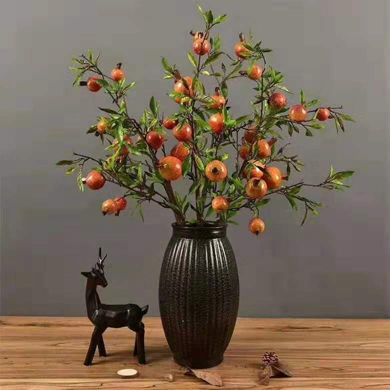 Cheersee red tomatio <strong>house</strong> decoration faux fake silk plastic artificial fruit and vegetables <strong>tree</strong> plants for <strong>home</strong> garden