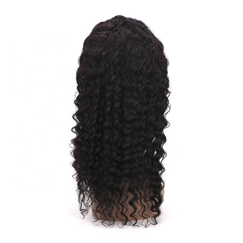 All Style Black Deep Wave Wigs 13x4 Deep Wave Remy Hair Curl Wigs For Women