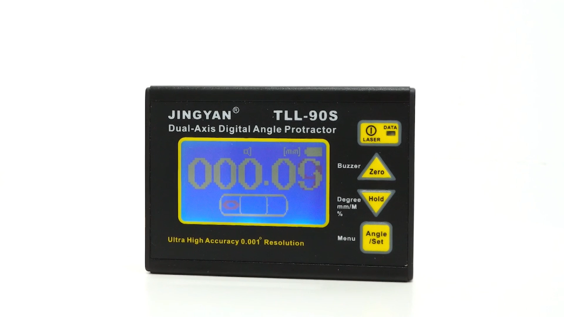 Jingyan yüksek hassasiyetli 0.005 lazer elektron seviye enstrüman TLL-90S dijital ekran çift eksenli inklinometre dijital iletki