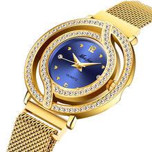 Роскошные женские часы MISSFOX, магнитные женские часы с полым ободком, кварцевые наручные часы Xfcs, модные бриллиантовые женские наручные часы ...(Китай)