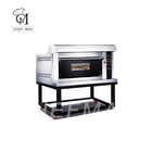 Bakery equipment Luxurious Tempered Glass Split-Type Bread Pizza Gas Baking Oven Deck Oven