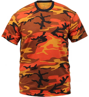 Custom orange camouflage t shirt