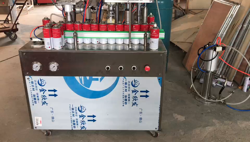 Semi Automatic Refrigerator Aerosol Propellant Filling Machine/semi auto gas filling machine