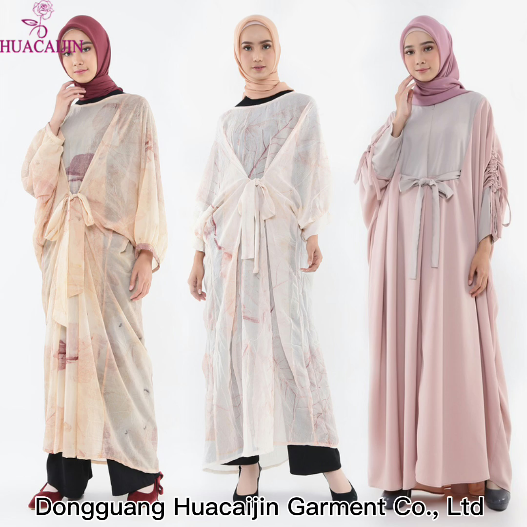 New Stylish Women Islamic Clothing Free Size Turkish Kaftan Dress Elegant Moroccan Caftan Muslim Abaya Wholesale Online