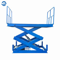 Hydraulic cargo lift 1m-10m lifting height car scissor lift